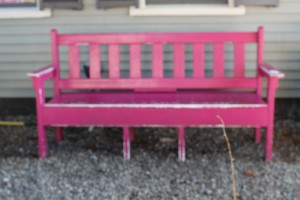 Pink Bench, Ogunquit Maine