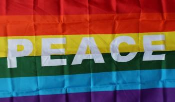 Provincetown Peace Rainbow Flag