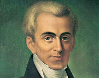 Ioannis Kapodistrias from Corfu island, founder and first governor of the modern Greek state