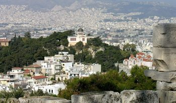 The Observatory as seen from the Acropolis.