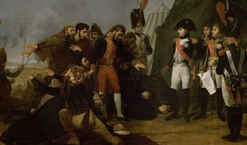 Napoleon accepting the surrender of Madrid during the Peninsular War