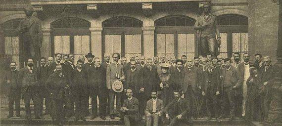 Delegates to the 1907 International Socialist Congress in Stuttgart, Germany.