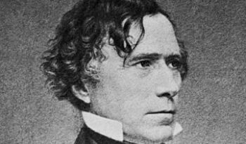 """Portrait of Franklin Pierce (1804–1869) by Mathew Brady. The LoC describes this as """"Copy neg. from original ink by Brady after Daguerreotype""""."""