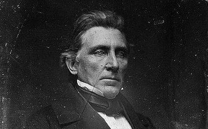 William M. Gwin, half-length portrait, three-quarters to the right