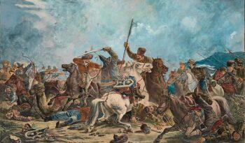 Ural Cossacks in skirmish with Kazakhs