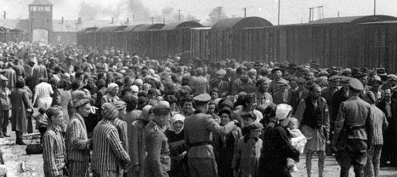 """Selection"" of Hungarian Jews on the ramp at Birkenau, May/June 1944"