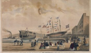 The launch of the Missionary ship the John Wesley at West Cowes, Isle of Wight, 23 September 1846